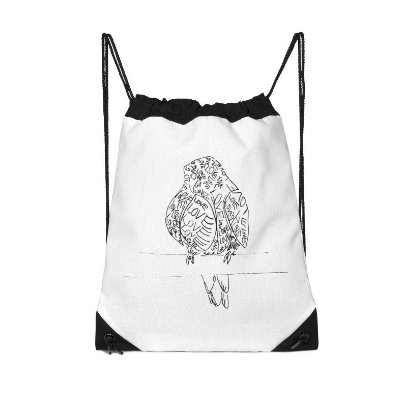 LOVEbird Accessories Drawstring Bag Bag by jAM_Aidan Shop