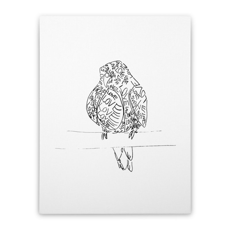 LOVEbird Home Stretched Canvas by jAM_Aidan Shop