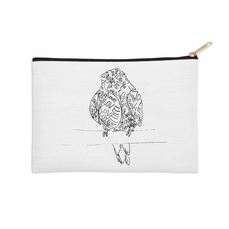 LOVEbird Accessories Zip Pouch by jAM_Aidan Shop
