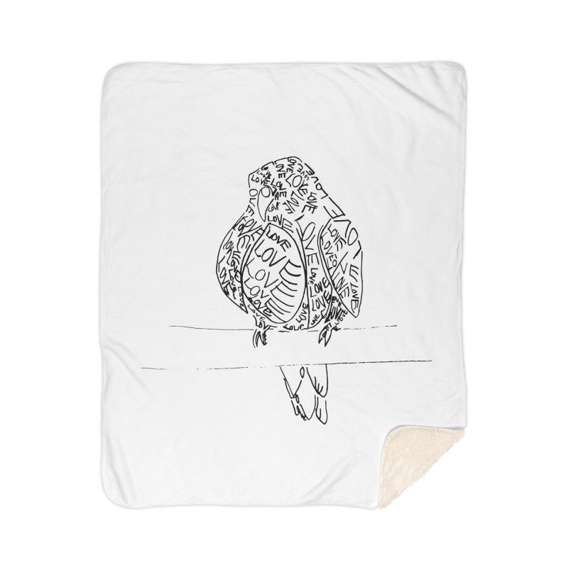 LOVEbird Home Sherpa Blanket Blanket by jAM_Aidan Shop