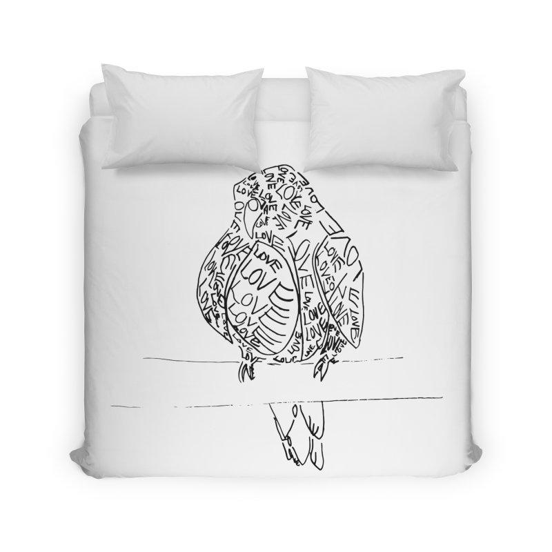 LOVEbird Home Duvet by jAM_Aidan Shop