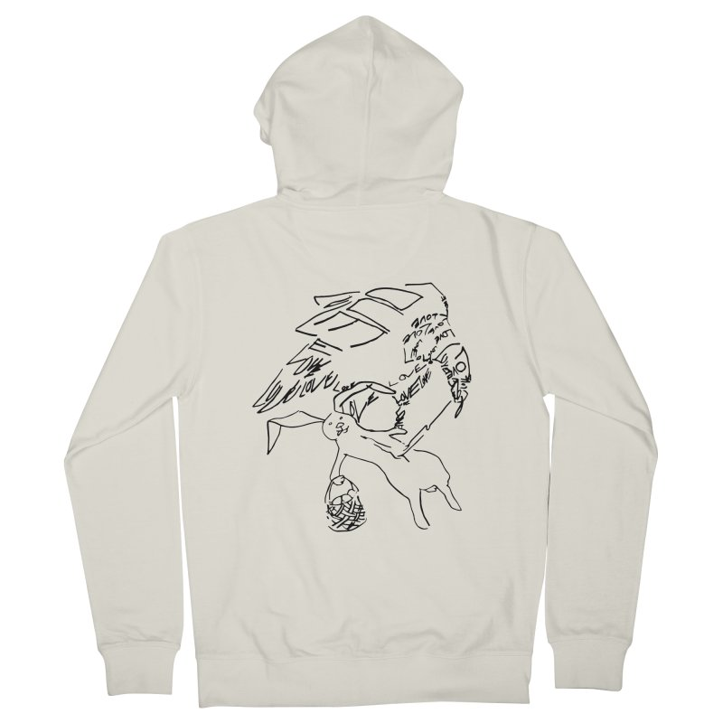LOVEvulture having a bunny snack Men's French Terry Zip-Up Hoody by jAM_Aidan Shop