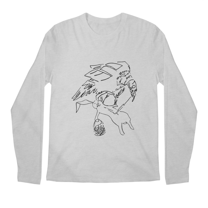 LOVEvulture having a bunny snack Men's Regular Longsleeve T-Shirt by jAM_Aidan Shop