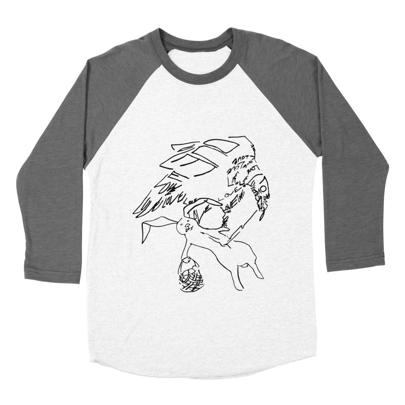 LOVEvulture having a bunny snack Men's Baseball Triblend Longsleeve T-Shirt by jAM_Aidan Shop