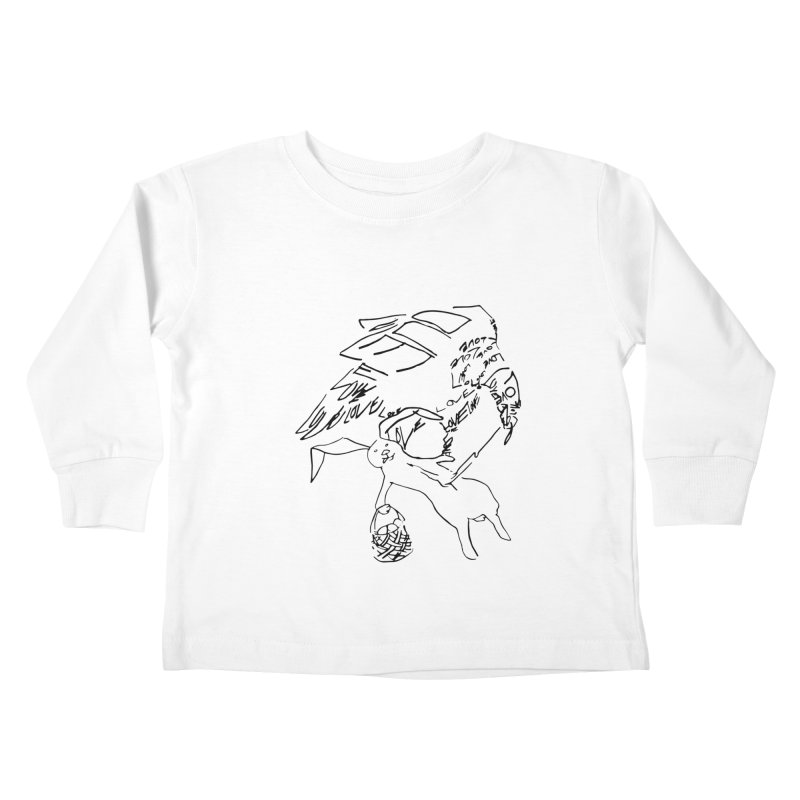 LOVEvulture having a bunny snack Kids Toddler Longsleeve T-Shirt by jAM_Aidan Shop