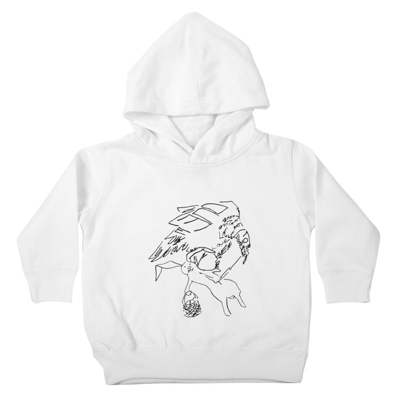 LOVEvulture having a bunny snack Kids Toddler Pullover Hoody by jAM_Aidan Shop