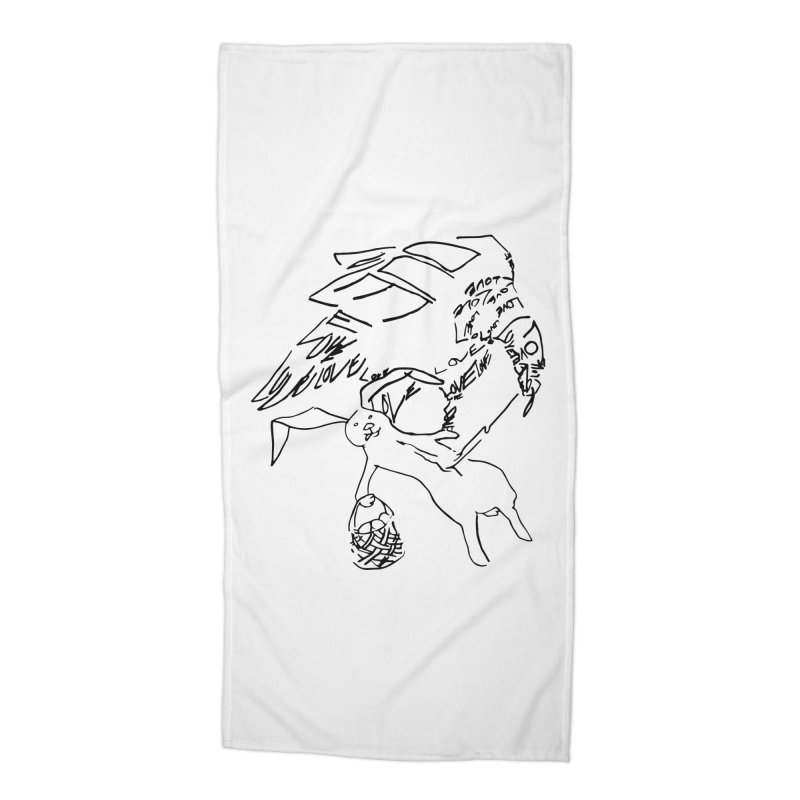 LOVEvulture having a bunny snack Accessories Beach Towel by jAM_Aidan Shop