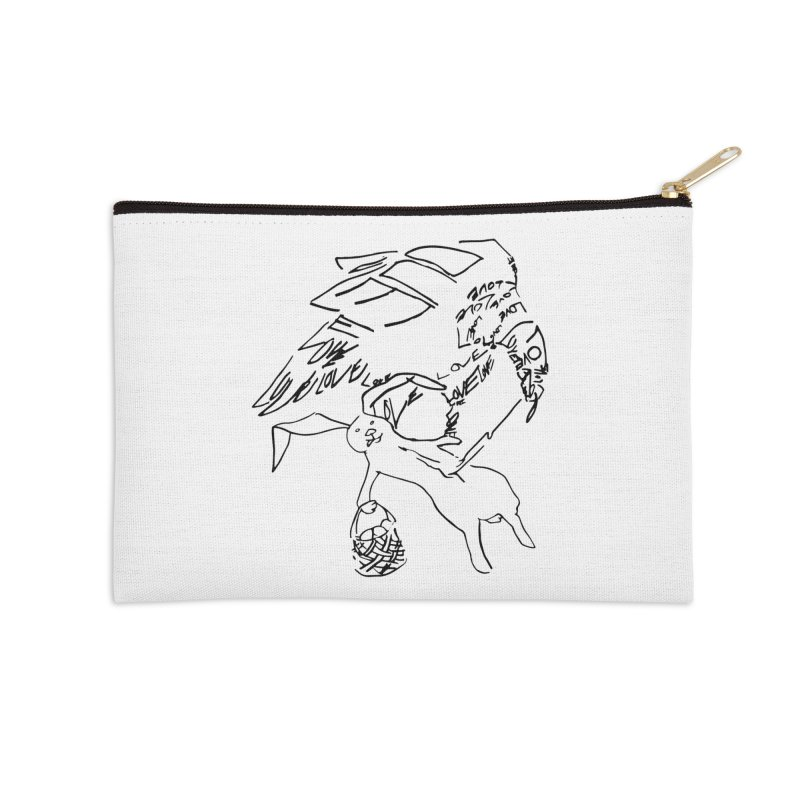 LOVEvulture having a bunny snack Accessories Zip Pouch by jAM_Aidan Shop