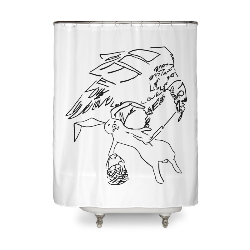LOVEvulture having a bunny snack Home Shower Curtain by jAM_Aidan Shop