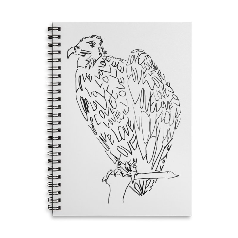 LOVEvulture Accessories Lined Spiral Notebook by jAM_Aidan Shop