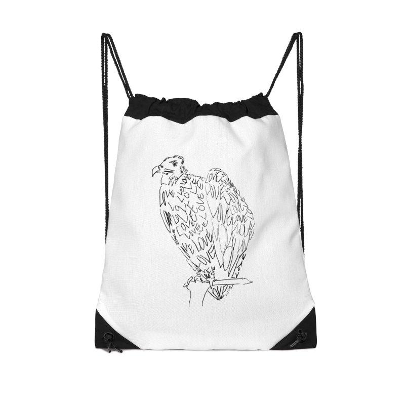LOVEvulture Accessories Drawstring Bag Bag by jAM_Aidan Shop