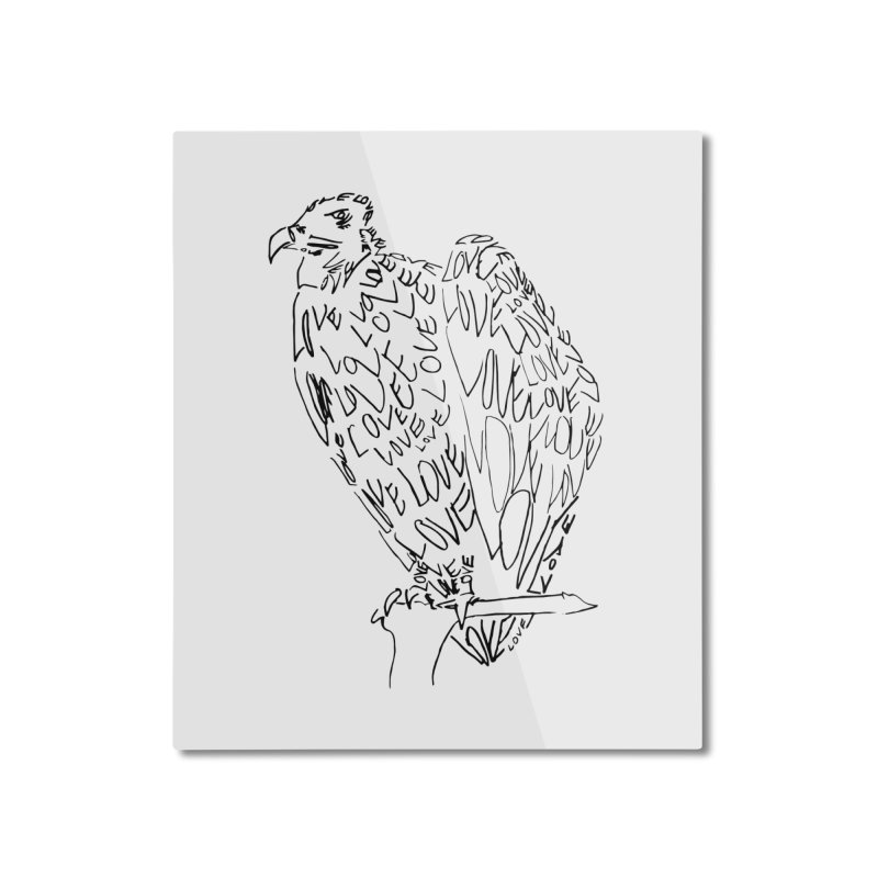 LOVEvulture Home Mounted Aluminum Print by jAM_Aidan Shop