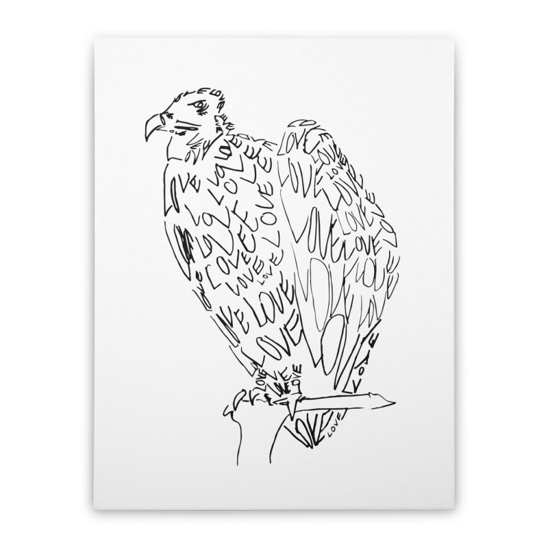 LOVEvulture Home Stretched Canvas by jAM_Aidan Shop