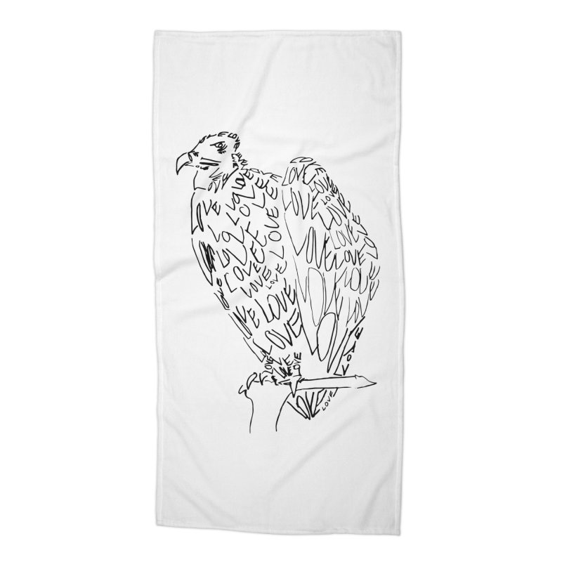 LOVEvulture Accessories Beach Towel by jAM_Aidan Shop