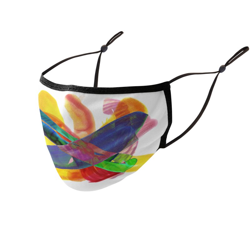tilt colors mask Accessories Face Mask by jamdigitalart's Artist Shop