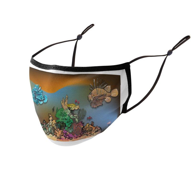 pufferfish mask Accessories Face Mask by jamdigitalart's Artist Shop