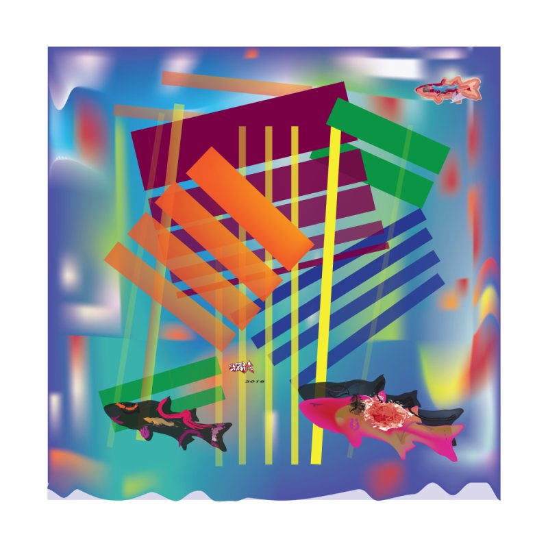 Blocks and Fish 2 by jamdigitalart's Artist Shop
