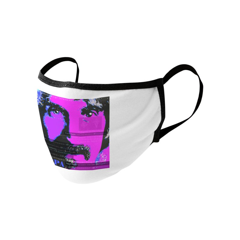 Frank Zappa Gematria Art 2020 Accessories Face Mask by James DeWeaver - Artist - Official Merchandise