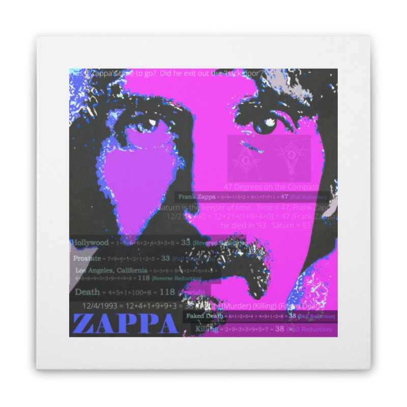 Frank Zappa Gematria Art 2020 Home Stretched Canvas by James DeWeaver - Artist - Official Merchandise