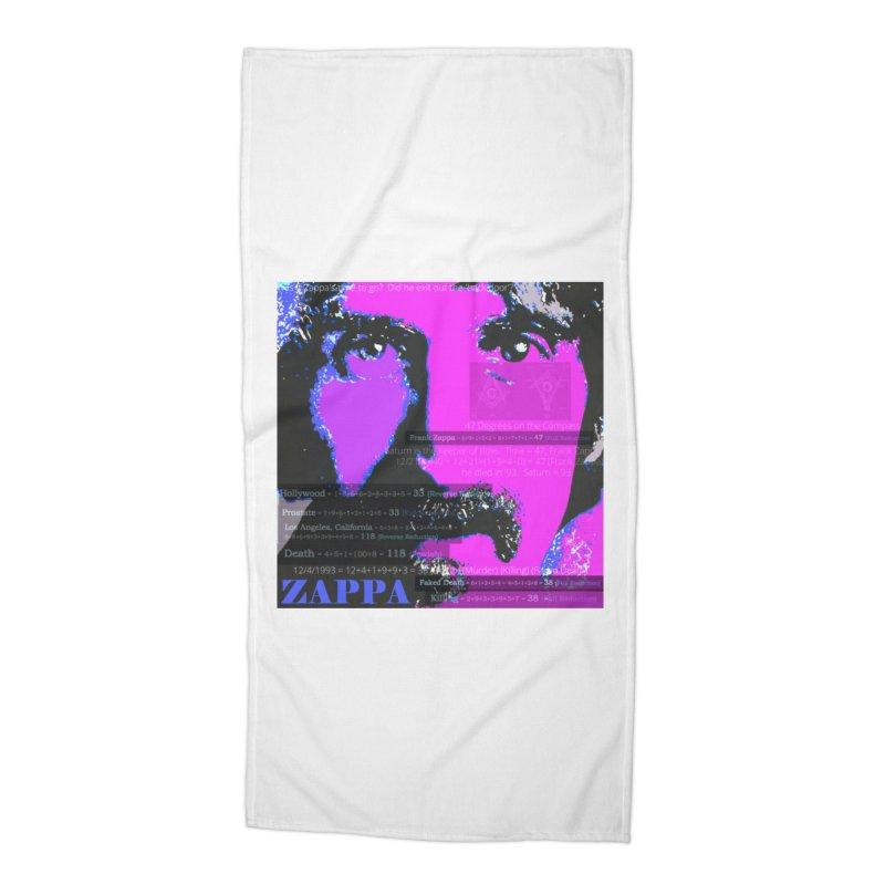 Frank Zappa Gematria Art 2020 Accessories Beach Towel by James DeWeaver - Artist - Official Merchandise