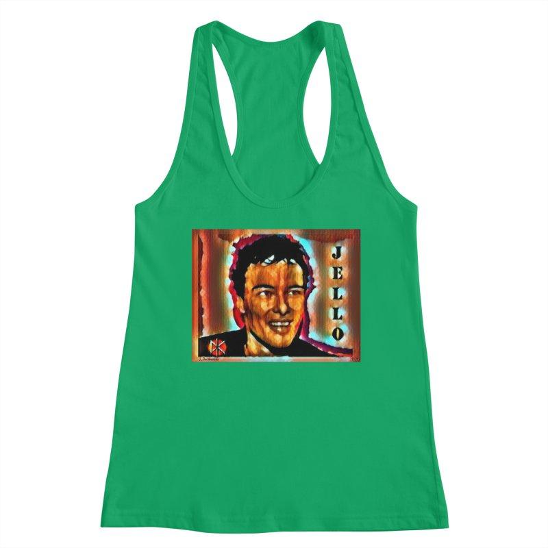 Jello Biafra watercolor Art 2020 Women's Tank by James DeWeaver - Artist - Official Merchandise