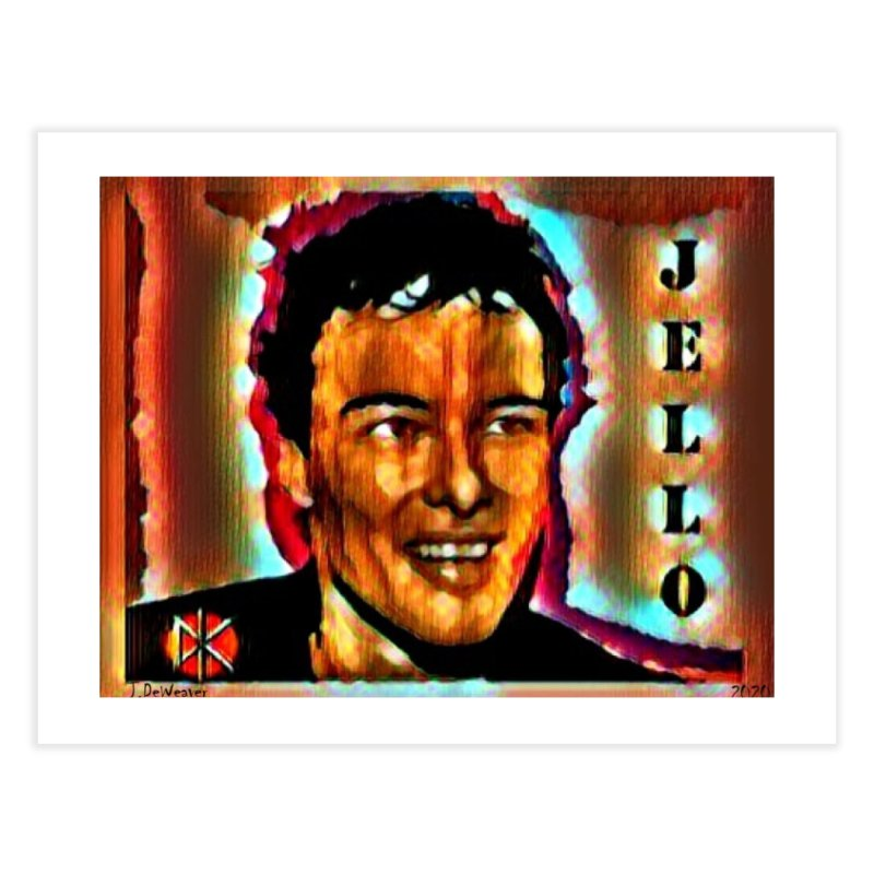 Jello Biafra watercolor Art 2020 Home Fine Art Print by James DeWeaver - Artist - Official Merchandise