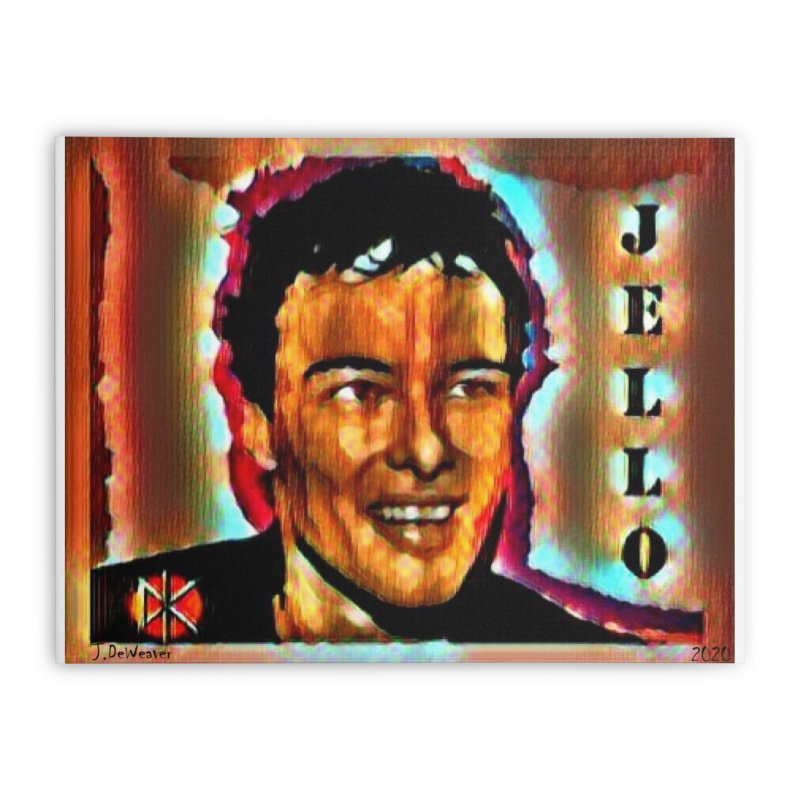 Jello Biafra watercolor Art 2020 Home Stretched Canvas by James DeWeaver - Artist - Official Merchandise