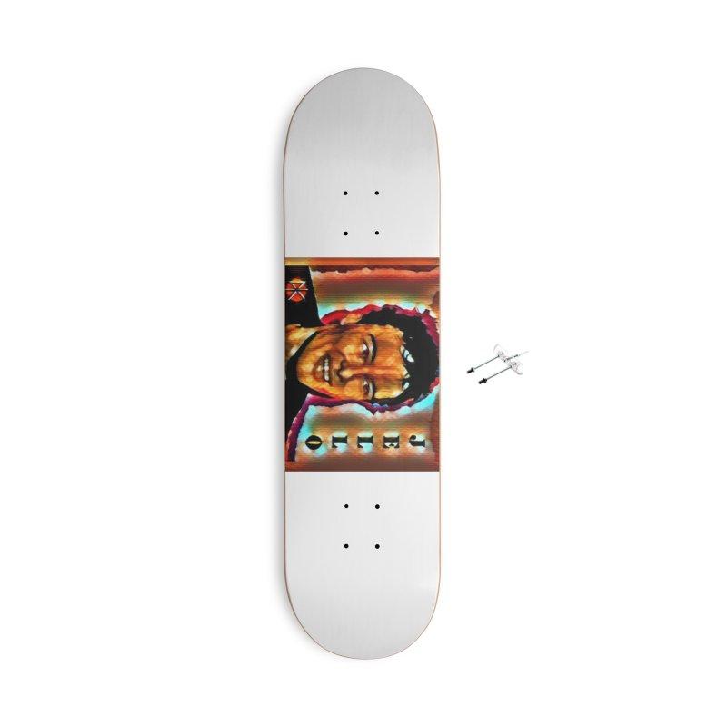 Jello Biafra watercolor Art 2020 Accessories Skateboard by James DeWeaver - Artist - Official Merchandise
