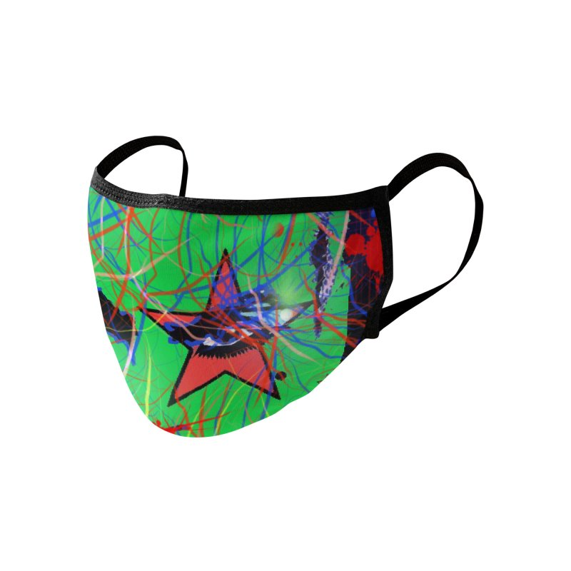 """Henry Rollins """"Starman"""" 2020 Accessories Face Mask by James DeWeaver - Artist - Official Merchandise"""
