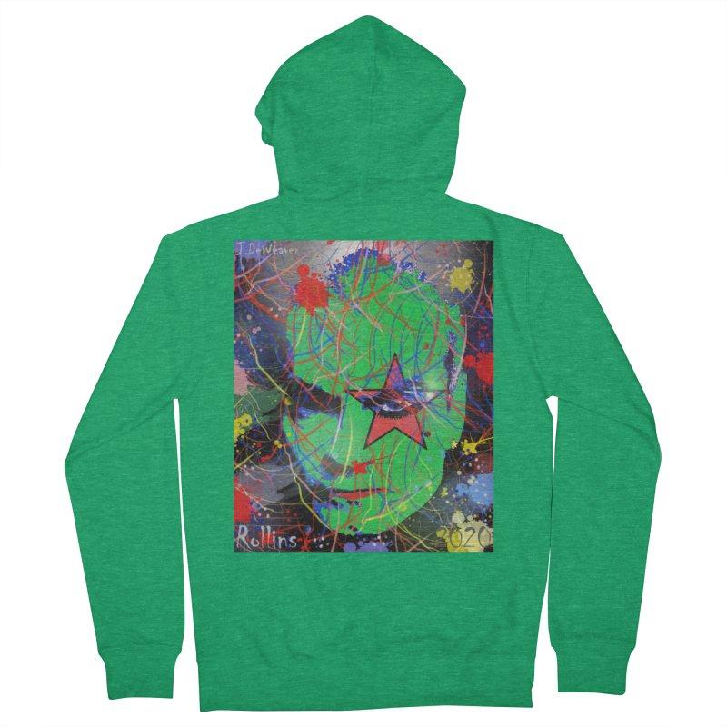 """Henry Rollins """"Starman"""" 2020 Women's Zip-Up Hoody by James DeWeaver - Artist - Official Merchandise"""