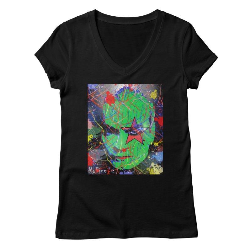 "Henry Rollins ""Starman"" 2020 Women's V-Neck by James DeWeaver - Artist - Official Merchandise"
