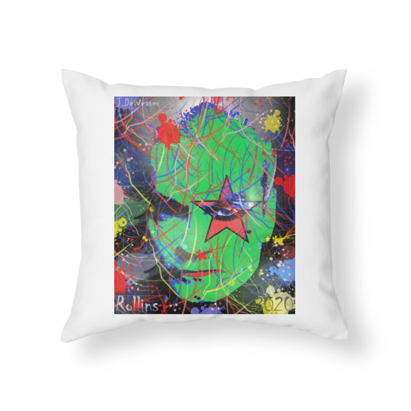 """Henry Rollins """"Starman"""" 2020 Home Throw Pillow by James DeWeaver - Artist - Official Merchandise"""