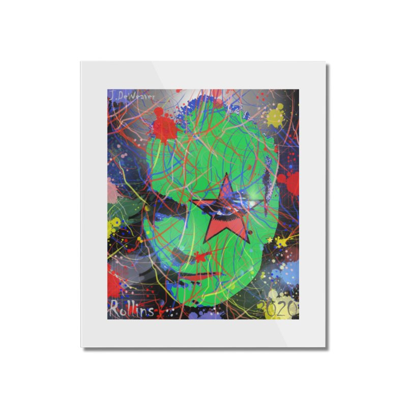 """Henry Rollins """"Starman"""" 2020 Home Mounted Acrylic Print by James DeWeaver - Artist - Official Merchandise"""