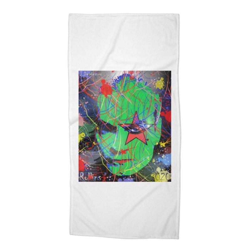 "Henry Rollins ""Starman"" 2020 Accessories Beach Towel by James DeWeaver - Artist - Official Merchandise"