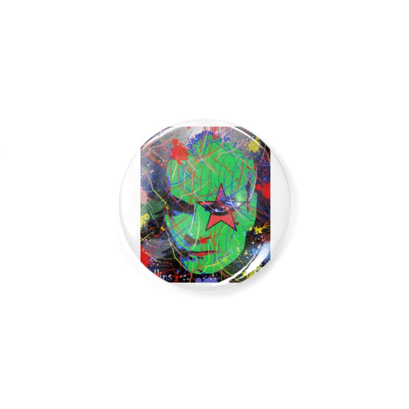 "Henry Rollins ""Starman"" 2020 Accessories Button by James DeWeaver - Artist - Official Merchandise"
