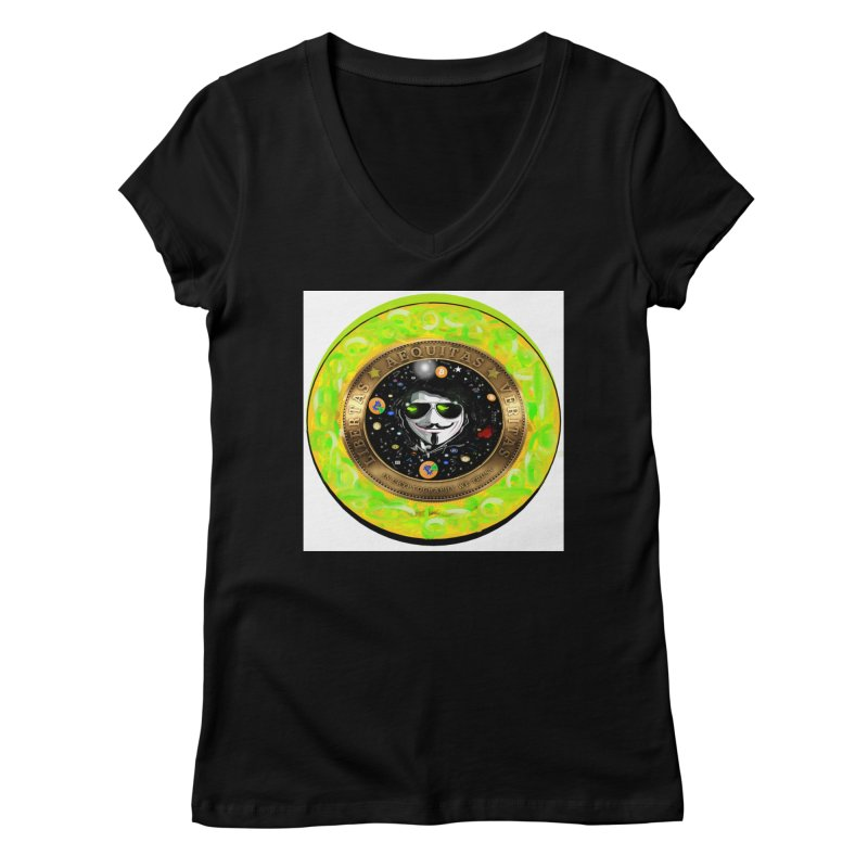 Bitcoin is not Anonymous 2020 Women's V-Neck by James DeWeaver - Artist - Official Merchandise
