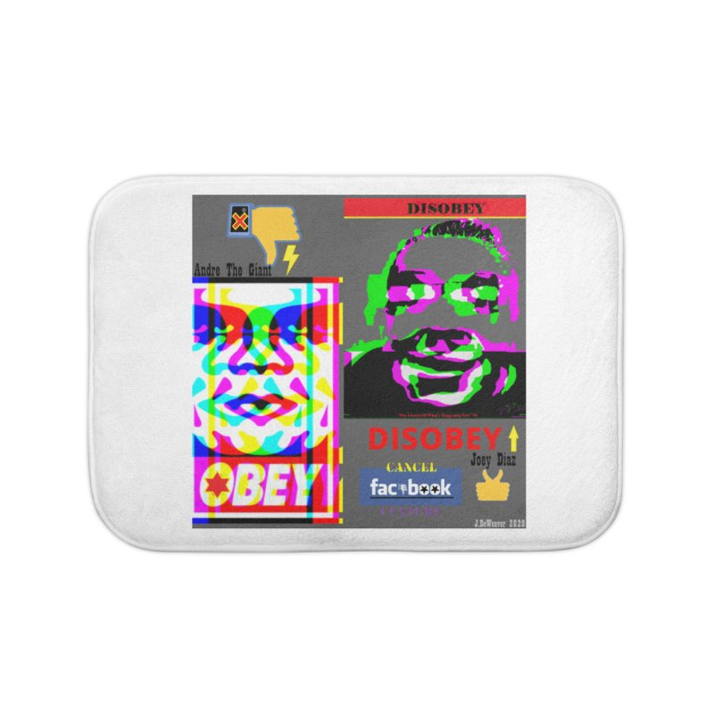 OBEY DISOBEY 2020 Home Bath Mat by James DeWeaver - Artist - Official Merchandise