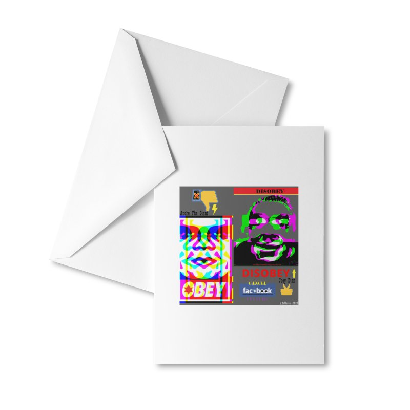 OBEY DISOBEY 2020 Accessories Greeting Card by James DeWeaver - Artist - Official Merchandise