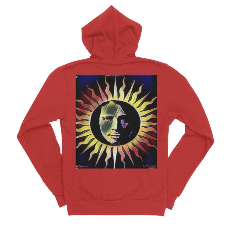 "Chris Cornell ""Shadow on the Sun"" 2020 Revise of original Men's Zip-Up Hoody by James DeWeaver - Artist - Official Merchandise"