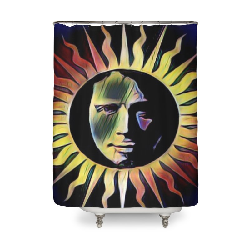 "Chris Cornell ""Shadow on the Sun"" 2020 Revise of original Home Shower Curtain by James DeWeaver - Artist - Official Merchandise"