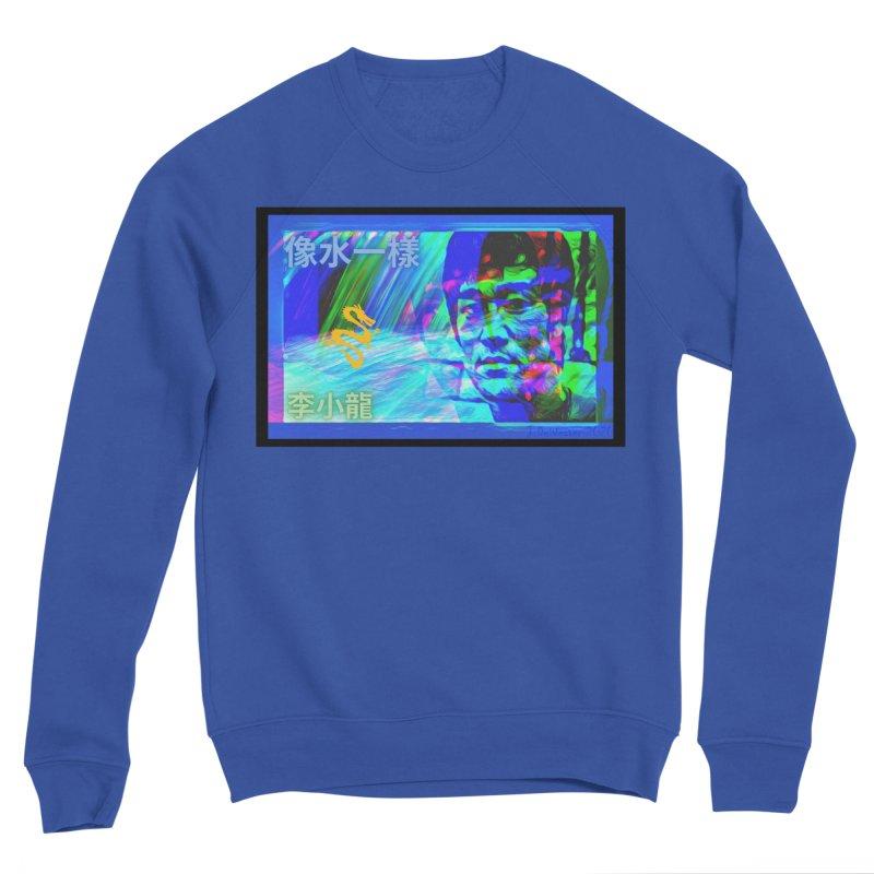 "Bruce Lee ""Be Like Water"" portrait for his 80th Birthday 2020 Men's Sweatshirt by James DeWeaver - Artist - Official Merchandise"