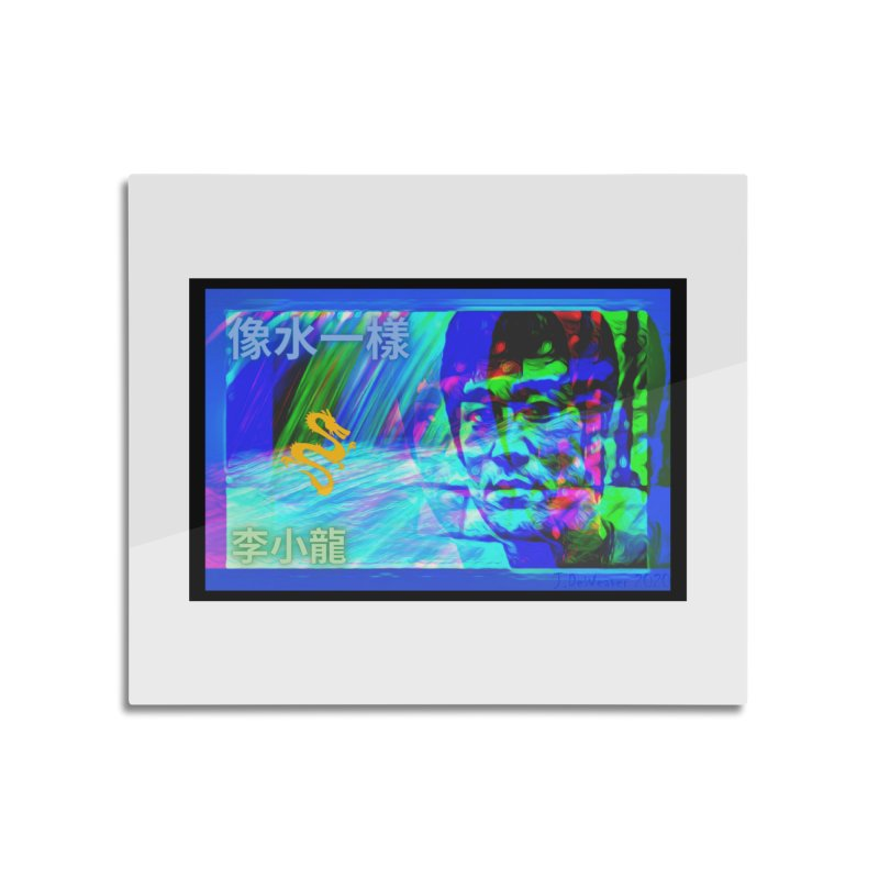 """Bruce Lee """"Be Like Water"""" portrait for his 80th Birthday 2020 Home Mounted Acrylic Print by James DeWeaver - Artist - Official Merchandise"""
