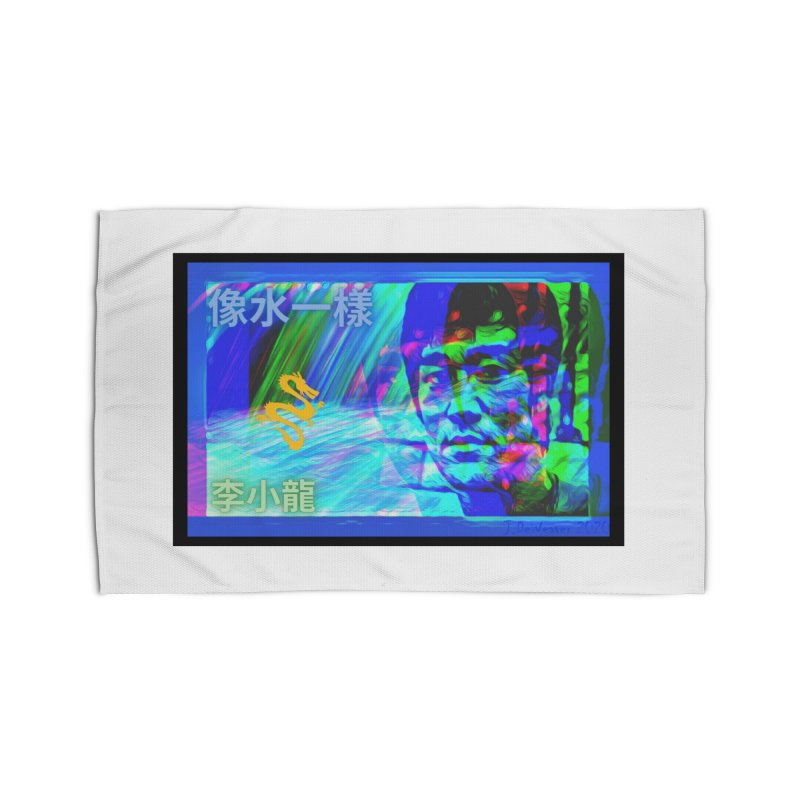 """Bruce Lee """"Be Like Water"""" portrait for his 80th Birthday 2020 Home Rug by James DeWeaver - Artist - Official Merchandise"""