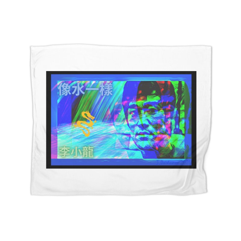 "Bruce Lee ""Be Like Water"" portrait for his 80th Birthday 2020 Home Blanket by James DeWeaver - Artist - Official Merchandise"