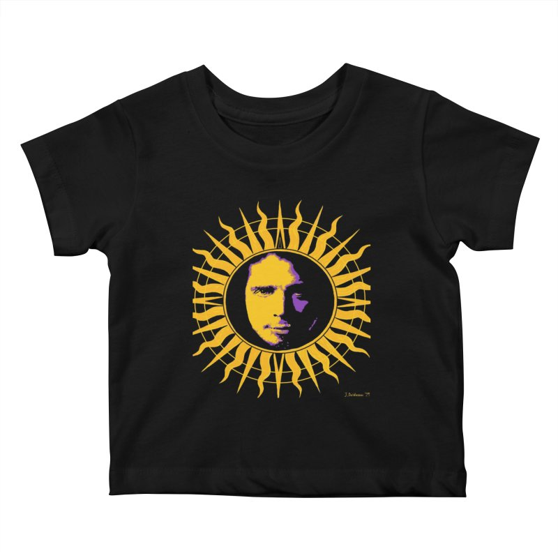 """Chris Cornell """"Shadow on the Sun"""" 2021 Kids Baby T-Shirt by James DeWeaver - Artist - Official Merchandise"""