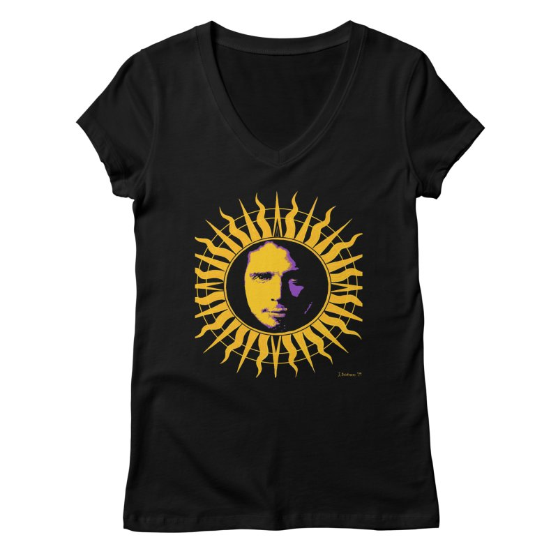 "Chris Cornell ""Shadow on the Sun"" 2021 Women's V-Neck by James DeWeaver - Artist - Official Merchandise"