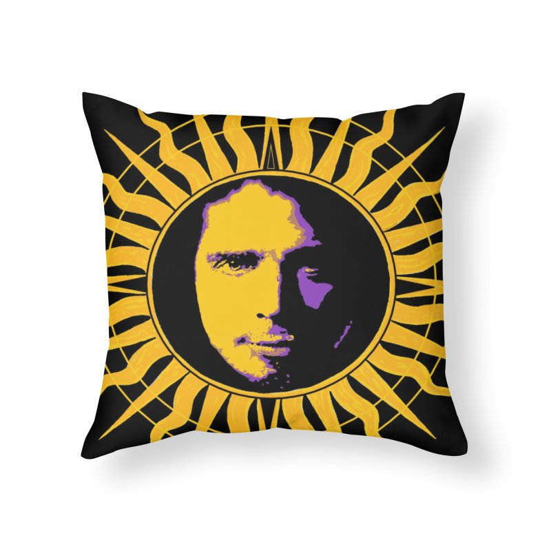 """Chris Cornell """"Shadow on the Sun"""" 2021 Home Throw Pillow by James DeWeaver - Artist - Official Merchandise"""