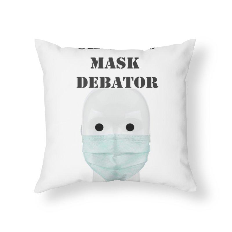 Chronic Mask Debator (NPC) #OperationJabGates 2021 Home Throw Pillow by James DeWeaver - Artist - Official Merchandise