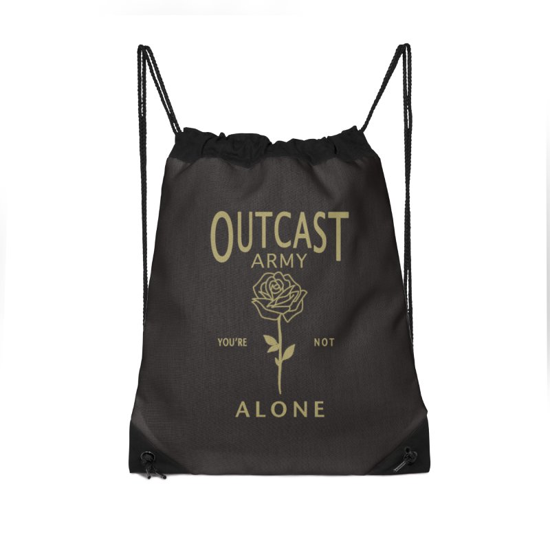"""OUTCAST ARMY """"You're Not Alone"""" Accessories Bag by James Durbin's Artist Shop"""