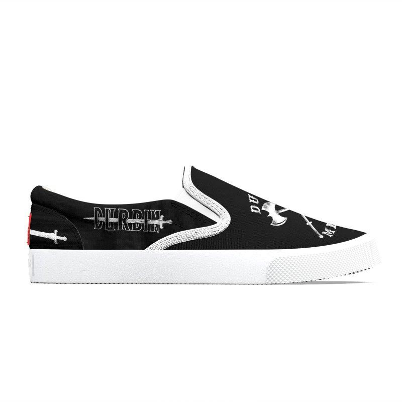 DURBIN METAL (Black & White) Women's Shoes by James Durbin's Artist Shop